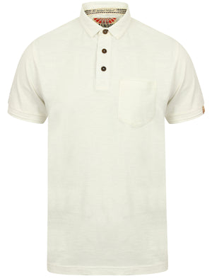 Port Wing Cotton Slub Polo Shirt in Ivory – Tokyo Laundry