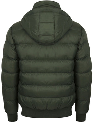 Proctor Layered Quilted Puffer Jacket with Hood in Deep Forest – Tokyo Laundry