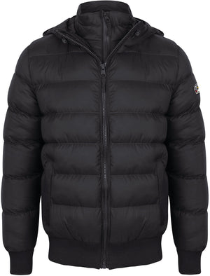 Proctor Layered Quilted Puffer Jacket with Hood in Navy – Tokyo Laundry