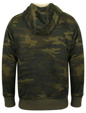 Quantico Borg Lined Zip Through Hoodie In Forest Night Camo – Tokyo Laundry