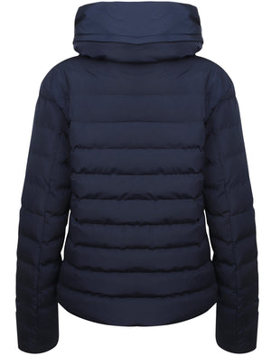 Quince Quilted Puffer Jacket with Extendable Hood in Peacoat - Tokyo Laundry