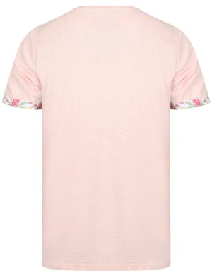 Raft Cotton Slub T-Shirt with Printed Pocket In Primrose Pink – Tokyo Laundry