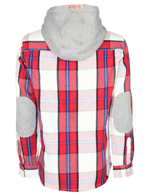 Redfield checked hooded shirt in red - Tokyo Laundry