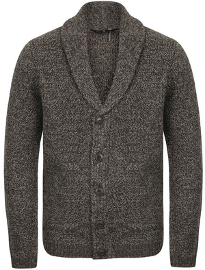Riley Wool Blend Shawl Neck Cardigan In Charcoal Marl – Tokyo Laundry