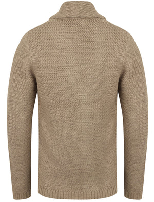 Riley Wool Blend Shawl Neck Cardigan In Stone Marl – Tokyo Laundry
