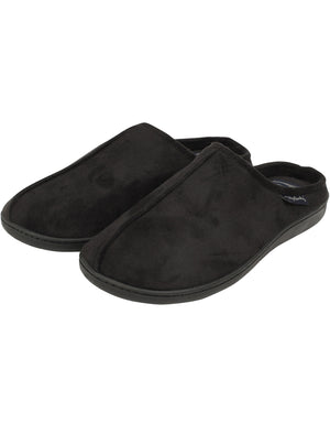 Robertson Fleece Lined Faux Suede Mule Slippers in Black – Tokyo Laundry