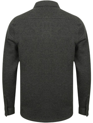 Rockfield Zip Through Sweat with Collar in Charcoal Marl - Tokyo Laundry
