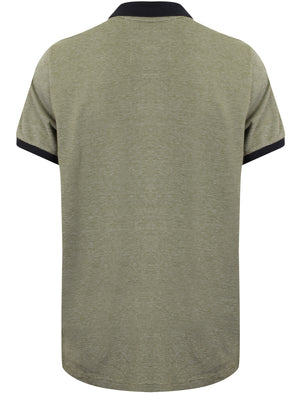 Roma Springs Pique Polo Shirt in Olivine Khaki - Tokyo Laundry