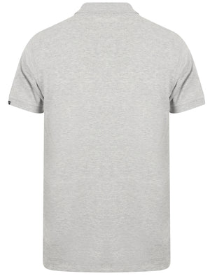 Roseville Cotton Pique Polo Shirt In Light Grey Marl - Tokyo Laundry