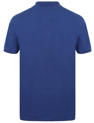 Roseville Cotton Pique Polo Shirt In Sapphire - Tokyo Laundry