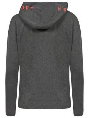 Rousey Zip Through Hoodie in Mid Grey Marl – Tokyo Laundry Active