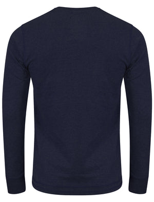 Applique Long Sleeve Top In Dress Blues- Tokyo Laundry