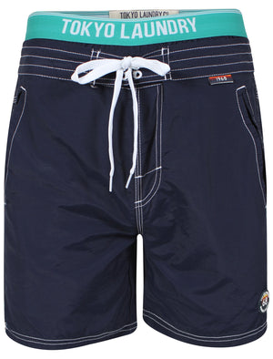 Schader Swim Shorts with Waistband Insert in Dark Blue - Tokyo Laundry