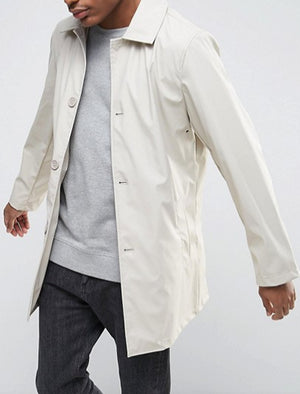 Scourfield Shower Resistant Trench Coat In Stone - Tokyo Laundry