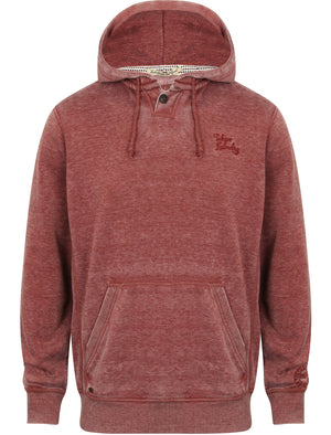 Shelby Hill Burnout Pullover Hoodie in Oxblood - Tokyo Laundry
