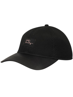 Shola Mesh Cap with Satin Peak In Black – Tokyo Laundry