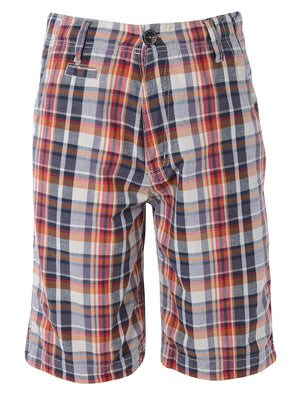 Tokyo Laundry Escalus Checked Cotton Shorts