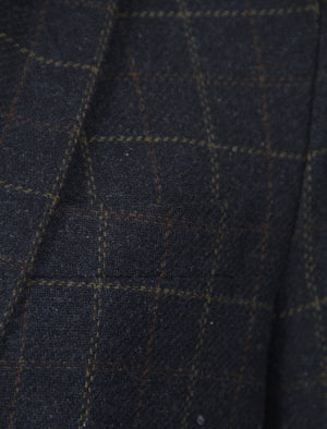 Sigman Wool Blend Blazer In Charcoal Check-Tokyo Laundry