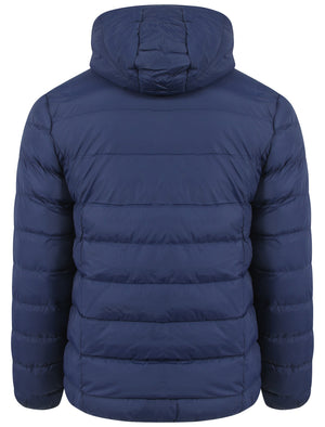 Tokyo Laundry hooded midnight blue padded jacket