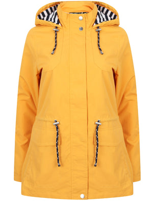 Snap Dragon Hooded Rain Coat in Golden Apricot - Tokyo Laundry
