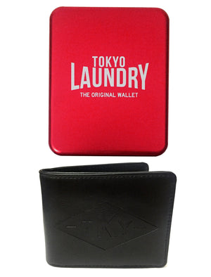 South Carolina Black Faux Leather Wallet In Metal Gift Box - Tokyo Laundry