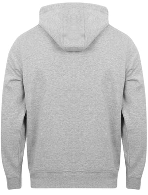 Springbrook Zip Through Hoodie with Tape Detail In Light Grey Marl - Tokyo Laundry