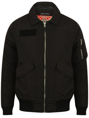 Strathaven Bomber Jacket with Collar in Black – Tokyo Laundry