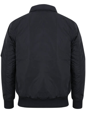 Strathaven Bomber Jacket with Collar in Navy - Tokyo Laundry