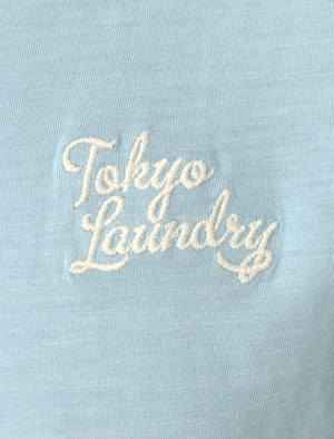 Sun Lake Cotton Crew Neck T-Shirt In Angel Falls - Tokyo Laundry