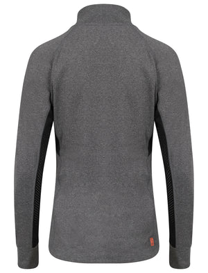 Swoopes Panelled Running Jacket in Grey Grindle - Tokyo Laundry Active