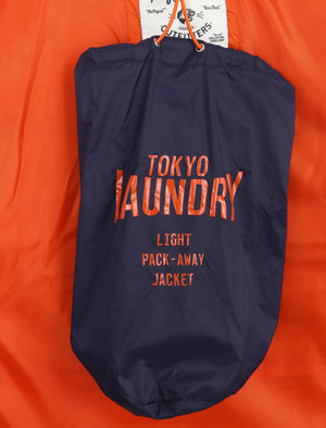 Syros Light Packaway Funnel Neck Quilted Jacket in Peacoat - Tokyo Laundry