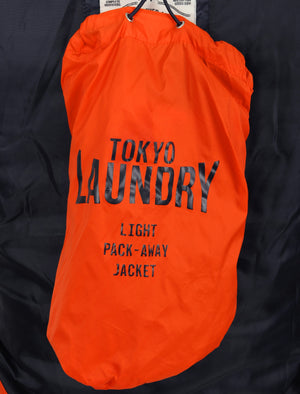 Syros Light Packaway Funnel Neck Quilted Jacket in Spicy Orange - Tokyo Laundry