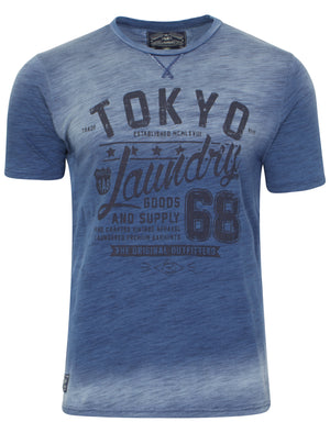 Tab Goods T-shirt in Blue - Tokyo Laundry