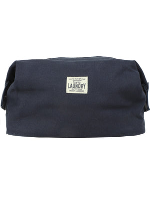 Tate Cotton Canvas Wash Bag in Navy – Tokyo Laundry