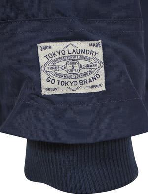 Hooded Jacket in Midnight Blue - Tokyo Laundry