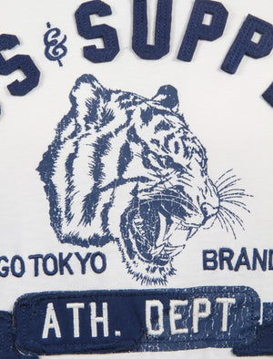 Tiger Lake Applique Cotton T-Shirt in Ivory – Tokyo Laundry