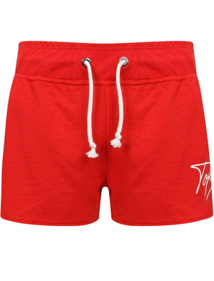 Tilly Motif Loopback Fleece Sweat Shorts in Lollipop Red – Tokyo Laundry