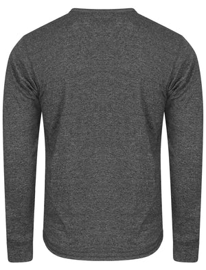 Timber Henley Slub Long Sleeve Top in Charcoal Marl – Tokyo Laundry