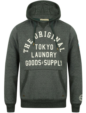 Timberfield Pullover Hoodie With Patches In Hunter Green – Tokyo Laundry