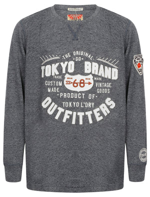 Boys K-Timperley Long Sleeve Top with Motif in Dark Navy – Tokyo Laundry Kids