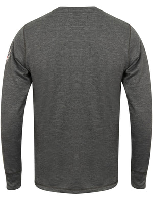 Timperley Long Sleeve Top with Motif in Charcoal – Tokyo Laundry