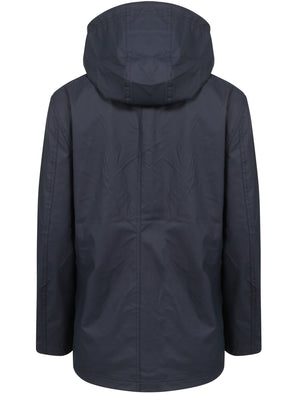Kestrel Hooded Rain Coat in Navy / Yellow  - Tokyo Laundry