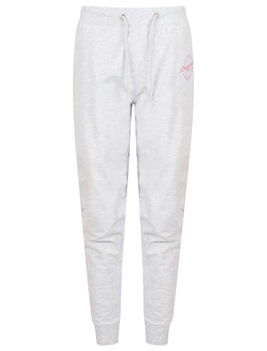 Mia Loopback Fleece Cuffed Joggers In White Grey Marl – Tokyo Laundry