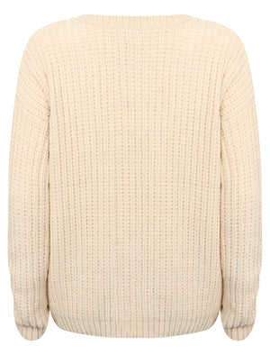 Moonlight Crew Neck Chenille Knitted Jumper in Clotted Cream – Tokyo Laundry