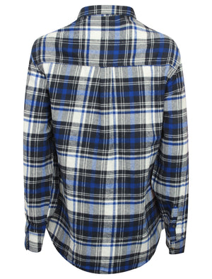 TL Sarra Checked Flannel Shirt in Navy Check – Tokyo Laundry