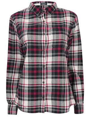 TL Sarra Checked Flannel Shirt in Red Check – Tokyo Laundry