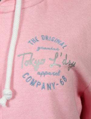 Thalia Zip Through Hoodie In Baby Pink Marl – Tokyo Laundry