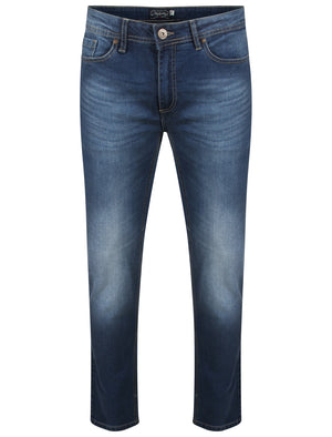 Trey Slim Fit Denim Jeans in Mid Blue Stone Wash – Tokyo Laundry