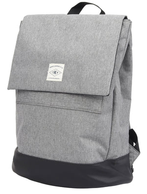 Tybalt Flap Over Smart Backpack In Light Grey Marl – Tokyo Laundry