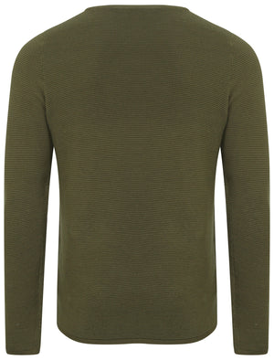 Tymon Ripple Stitch Jumper in Amazon Khaki - Tokyo Laundry